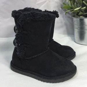 Girls Suede Upper Faux Fur Lined Snow Boots